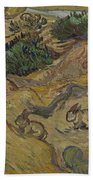 Landscape With Rabbits Saint Remy De Provence December 1889 Vincent Van Gogh 1853  1890 Beach Towel