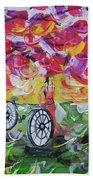 Landscape Women Bike Beach Towel
