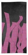 Languettes 02 - Pink Beach Towel
