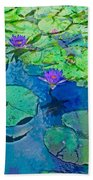 Languid Lagoon Beach Towel