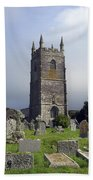 Lansallos Church Cornwall Beach Towel