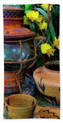 Lantern With Baskets Beach Towel