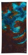 Lapis Lazuli Nebula  Beach Towel