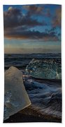 Large Icebergs At Dawn #4 - Iceland Beach Towel
