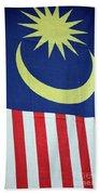 Large Malaysia Flag On Doorway Georgetown Penang Malaysia Beach Towel