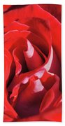 Large Red Rose Center - 003 Beach Towel