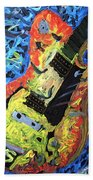 Larry Carlton Guitar Beach Towel