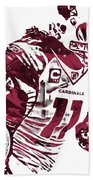 Larry Fitzgerald Arizona Cardinals Pixel Art 1 Beach Towel