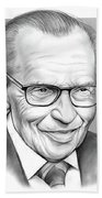 Larry King Beach Towel