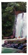 Las Marias Puerto Rico Waterfall Beach Towel