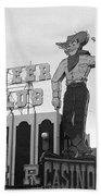 Las Vegas 1980 Bw #13 Beach Towel