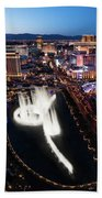 Las Vegas Lights Beach Towel