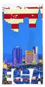 Las Vegas Nevada Skyline Beach Towel