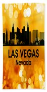 Las Vegas Nv 3 Vertical Beach Towel