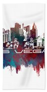 Las Vegas Skyline City Blue Beach Towel