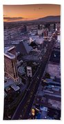 Las Vegas Strip Aloft Beach Towel