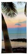 Last Evening Lights Beach Towel
