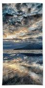 Last Light Isle Of Rum From Isle Of Eigg Beach Towel