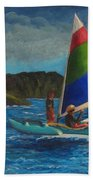 Last Sail Before The Storm Beach Towel