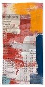 Last Train To Kobenhavn- Art By Linda Woods Beach Towel