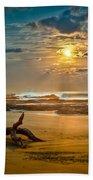 Late Afternoon Costa Rican Beach Scene Beach Towel by Rikk Flohr