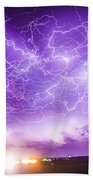 Late July Storm Chasing 089 Beach Towel