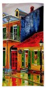 Late On Bourbon Street Beach Towel