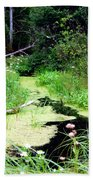 Late Summer At The Creek Beach Towel