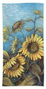 Late Sunflowers  Beach Towel
