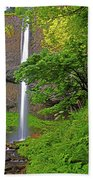 Latourell Falls Oregon Beach Towel