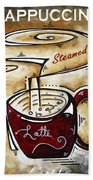 Latte By Madart Beach Towel by Megan Duncanson