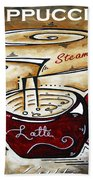 Latte Original Painting Madart Beach Towel