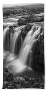 Laugafell Mountain Lodge Waterfalls 3155 Beach Towel