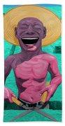 Laughing Gardener Beach Towel