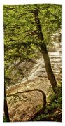 Laughing Whitefish Falls 2 Beach Towel