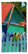 Laundry Day Beach Towel by Debbi Granruth