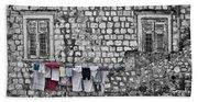 Laundry Line - Dubrovnik Croatia #3 Beach Towel