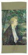 lautrec gabrielle 1891 Henri De Toulouse-Lautrec Beach Towel