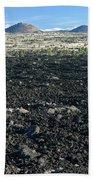 Lava Flow And Schonchin Butte, Lava Beds Nm, California, Usa Beach Towel