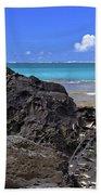 Lava Rocks At Haena Beach Beach Towel