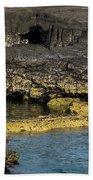 Lava Tubes Puerto Egas Beach Towel
