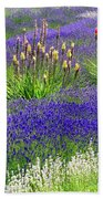 Lavender And Flowers Oh My Beach Towel