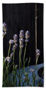 Lavender And Watering Can Beach Towel