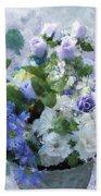 Lavender Blue Beach Towel