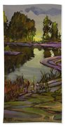 Lavender Field, Langley B C Beach Towel