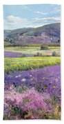 Lavender Fields In Old Provence Beach Sheet