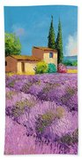 Lavender Fields In Provence Beach Towel