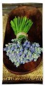 Lavender Flower  Beach Towel