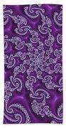 Lavender Fractal  Beach Towel