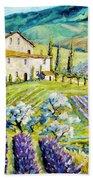 Lavender Hills Tuscany By Prankearts Fine Arts Beach Towel